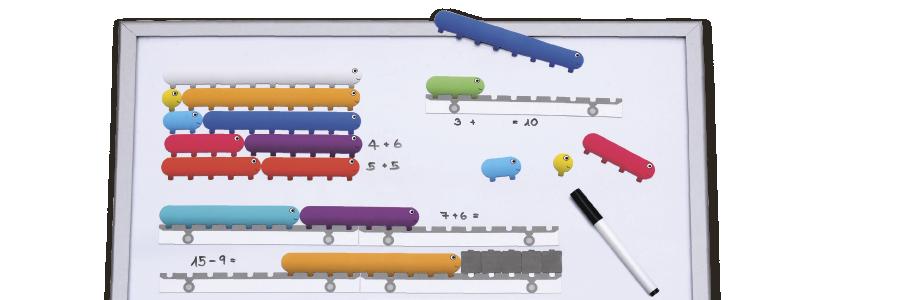 Magnet-Sellis: Anschauungsmittel auf Tisch und Magnettafel